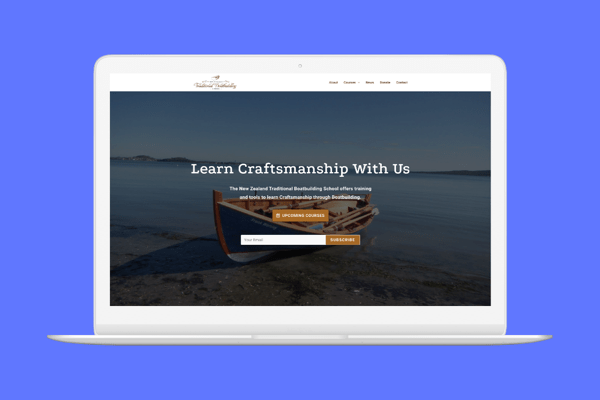 website of a boatbuilding charity