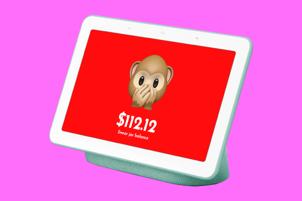 a swearing robot monkey that takes away $5 of your money every time you swear